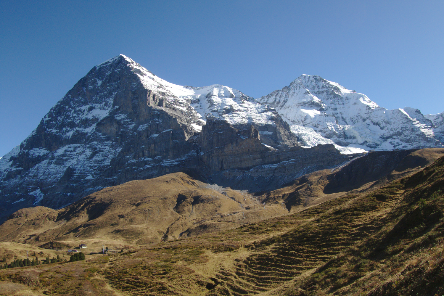 Photo of Eiger mountain face