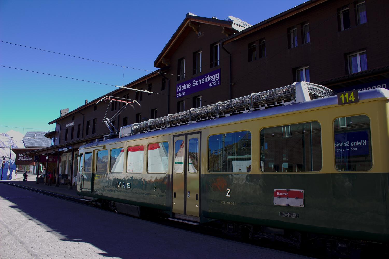 Photo of a green train