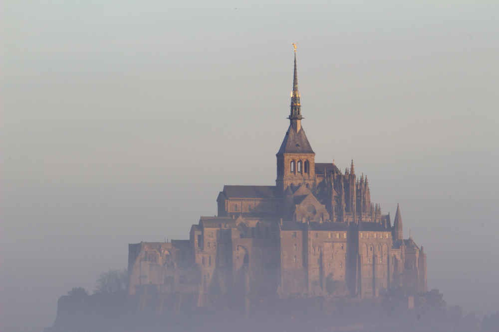Photo of Mont Saint-Michel in the mist