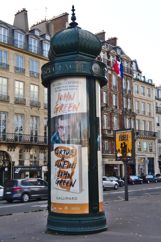 Advertisement of John Green's face