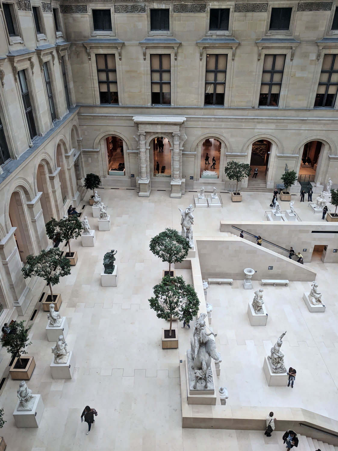 Interior of the Louvre