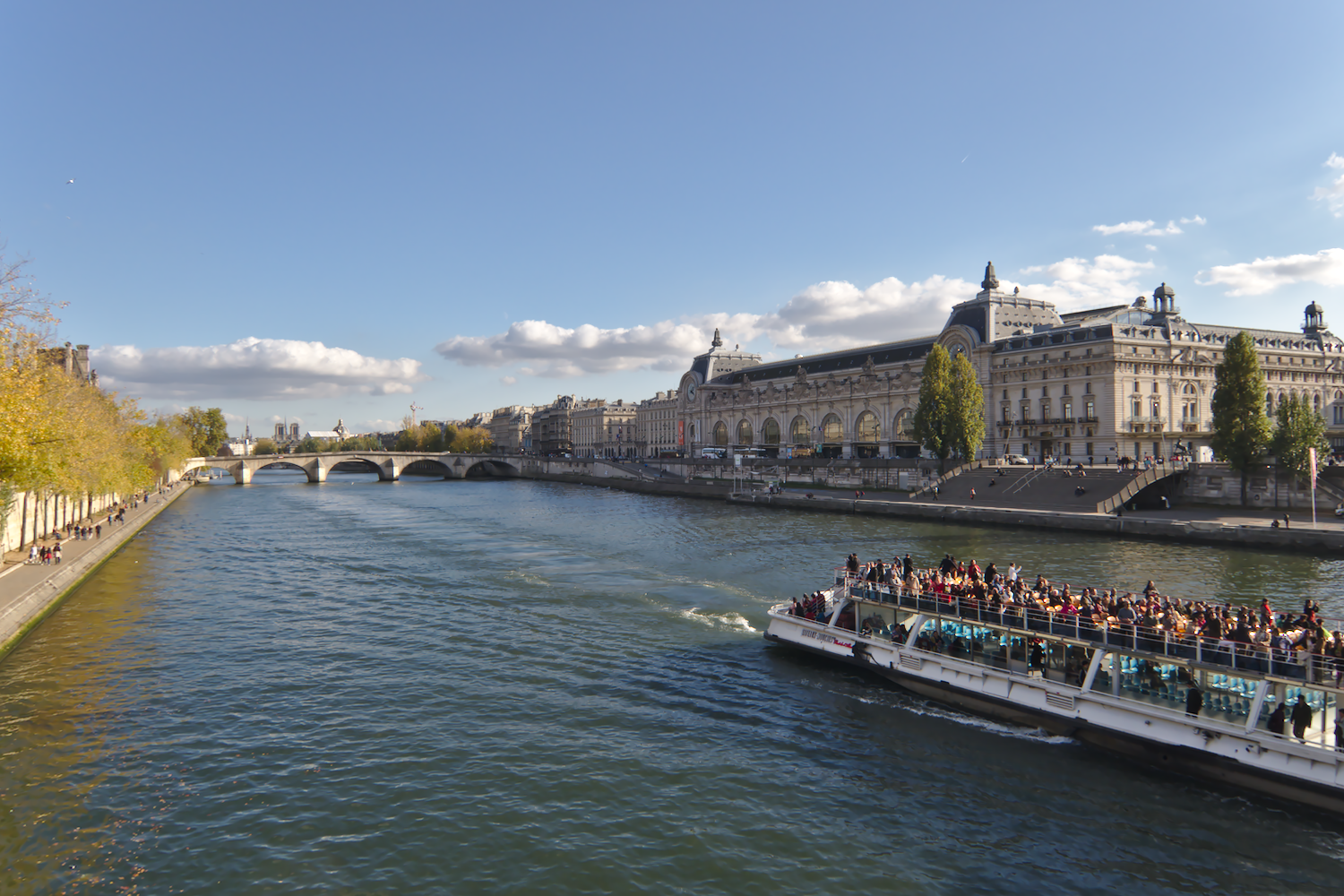 Paris river Seine and the Musee d'Orsay