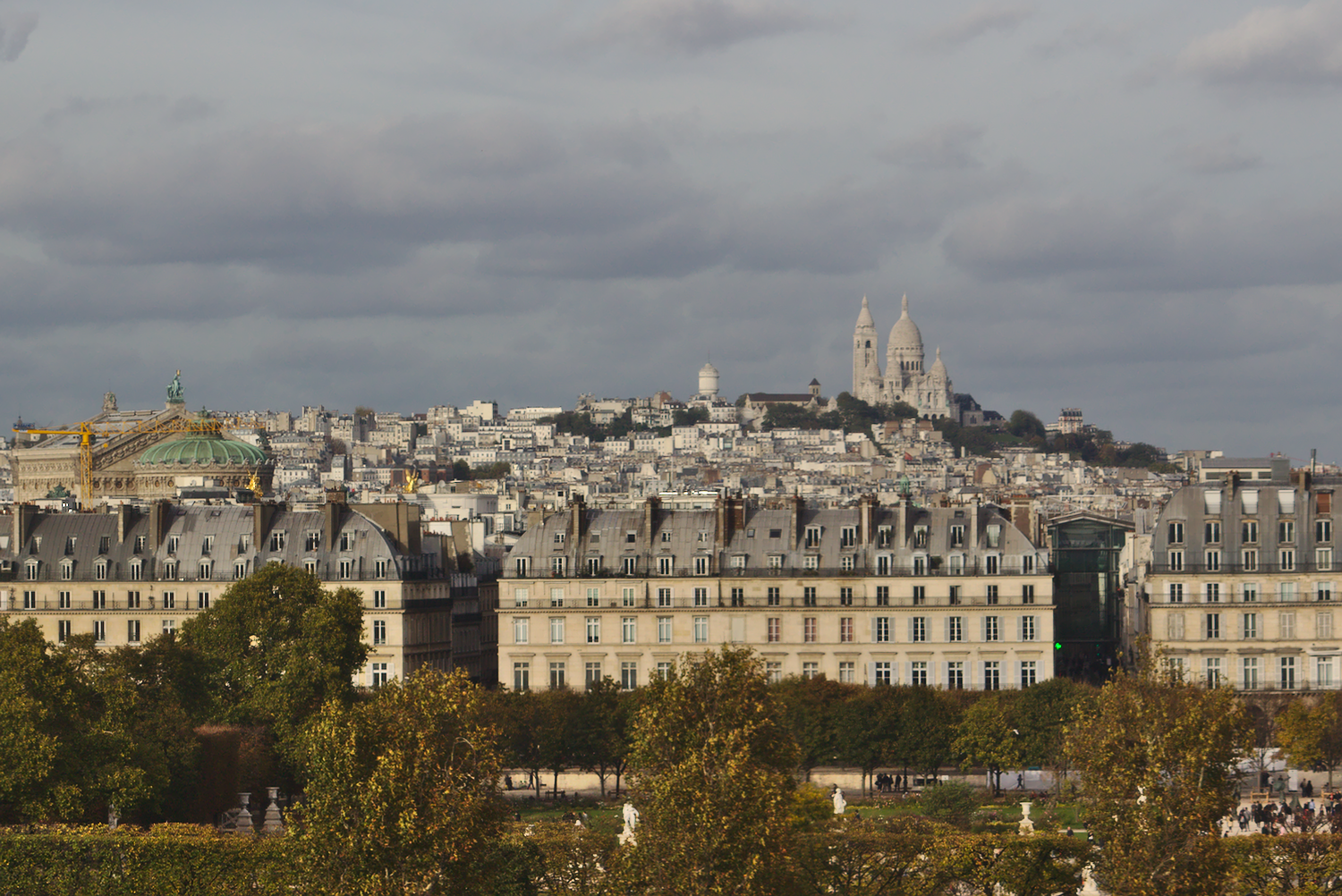 Photo of view of Montmartre and Sacre Coeur from Musee d'Orsay